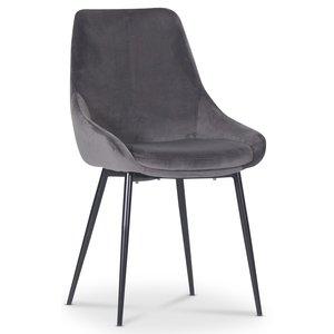 Theo stol - Grå sammet