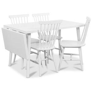 Dalsland matgrupp, Bord med klaff och 4 st vita Visby pinnstolar
