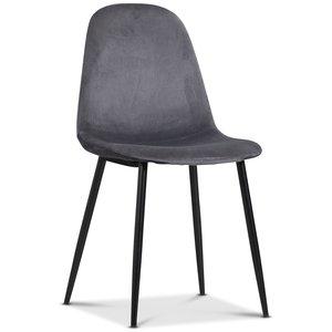 Carisma stol - Grå sammet