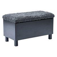 Box sittbänk med förvaring - svart