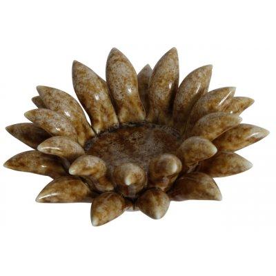 Ljushållare Dahlia - Keramik (Ljusbrun)