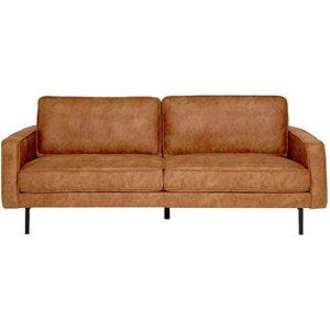 Brisbane 3-sits soffa - Cognac (PU)