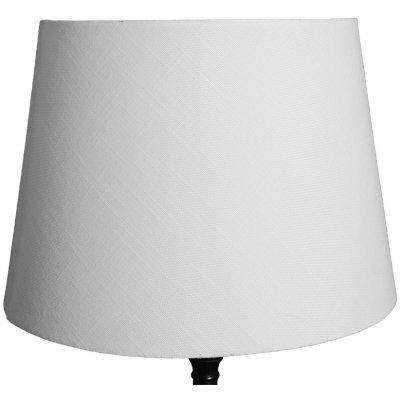 Rund lampskärm 27x35x25 cm - Vit (linne)