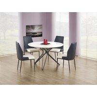 Bibbi matbord 120 cm - Vit (Högglans) / svart