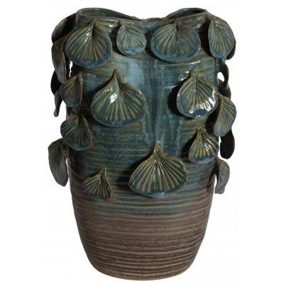 Vas Leaf H25 cm - Grön