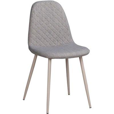 Hailey stol - Whitewash/grå