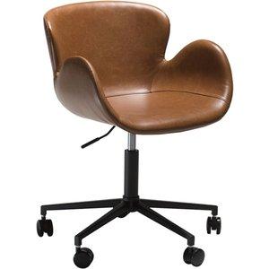 Gaia kontorsstol - Vintage ljusbrun