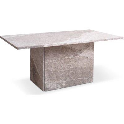 Kindbro soffbord 110 cm - Silvrig marmor