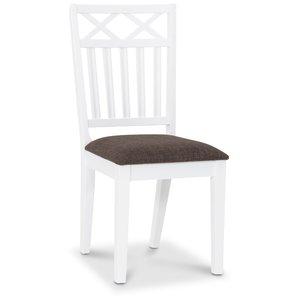 Herrgård Wilmer matstol - Vit / Brun