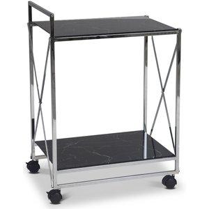 Serveringsvagn Paladium - Krom / Svart marmorglas thumbnail