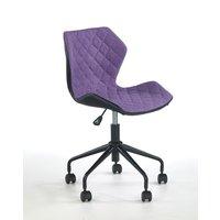 Albana skrivbordsstol - Svart/lila