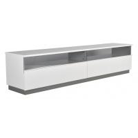 Decibel TV-bänk 200 med sockel - Vit Högblank