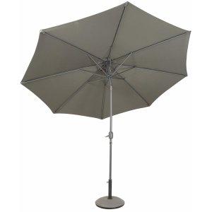 Parasoll Cali D300 cm i aluminium - Grå