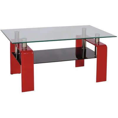 Soffbord Lauvik - Röd/svart