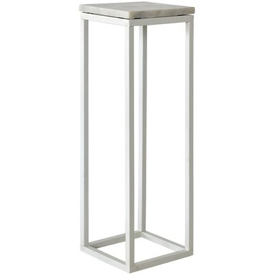 Accent Piedestal - Vit marmor