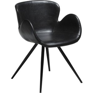 Gaia karmstol - Vintage svart