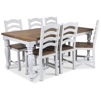 New England matgrupp 180 cm bord med 6 st New England stolar