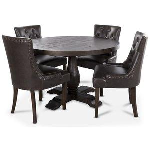 Lamier matgrupp inklusive 4 st Tuva stolar i vintage PU