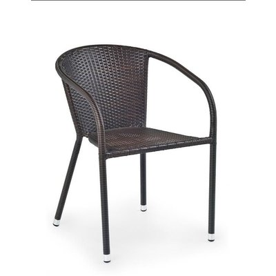 Malik cafèstol - Mörkbrun konstrotting