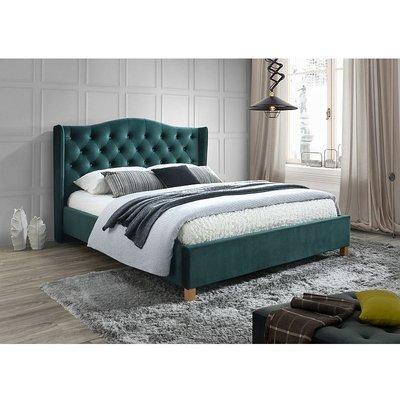 Duncan säng 160x200 cm - Mörkgrön (Sammet)