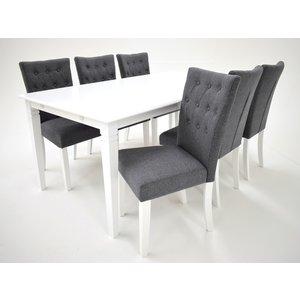 Sandhamn matgrupp - Bord inklusive 6 st Crocket stolar - Vit