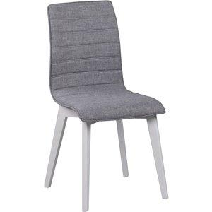 Aniyah stol - Ljusgrå/vitlack