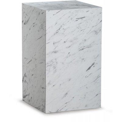 Sikfors sidobord - Vit marmorimitation