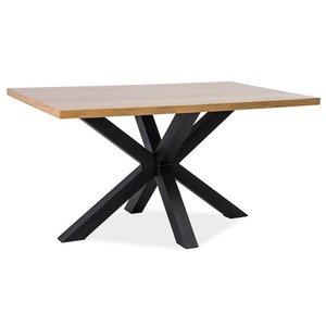Matbord Finley 180 cm - Massiv ek/svart