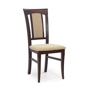 Kara stol - mörk valnöt/beige
