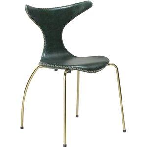 Dolphin stol - Grön / guld
