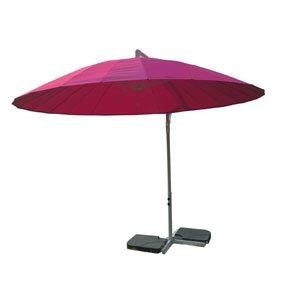 Sidohängt parasoll Shanghai - Rosa