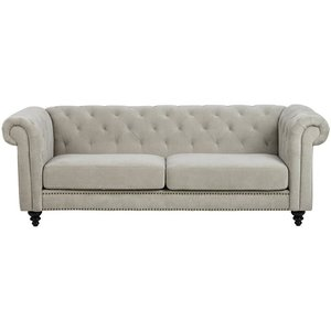 Chesterfield Royal 3-sits soffa - Sand (Chenille)