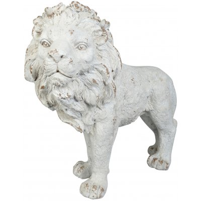 Trädgårdskonst Staty stående lejon - L90 cm