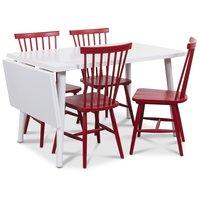 Dalsland matgrupp, Bord med klaff och 4 st röda Karl pinnstolar