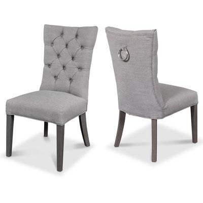 Tuva Kate - Stoppad stol med hög rygg (ljusgrå)