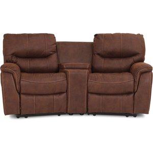 Rom 2-sits reclinersoffa - Brun