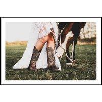 COWBOY BOOTS & HORSE - Poster 50x70 cm