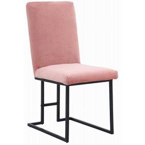 Simple stol - Rosa sammet