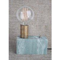 Dakar bordslampa - Grön marmor / Mässing