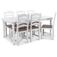 Nomi matgrupp 180 cm bord med 6 st New England stolar