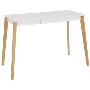 Tindra skrivbord - Vit/Trä