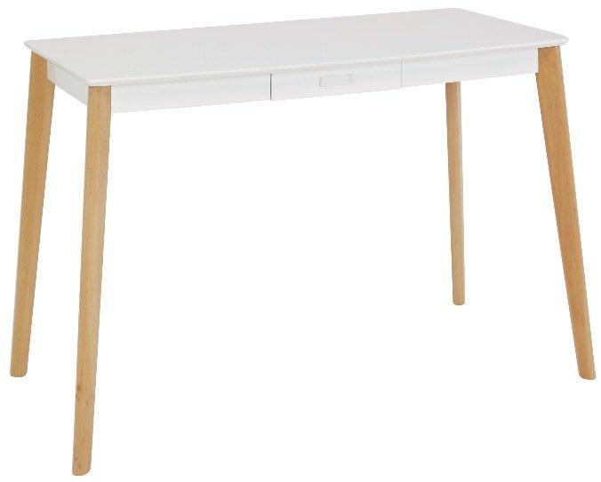 Tindra skrivbord med låda VitTrä 1190 kr Trendrum.se