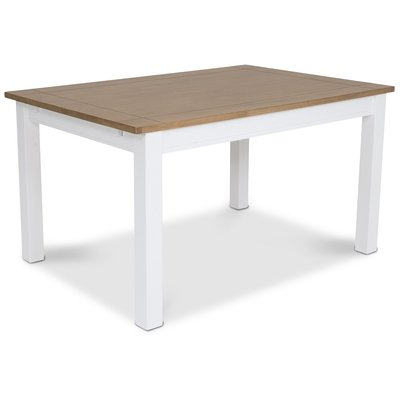 Skagen matbord 140 cm - Vit/Ekbets