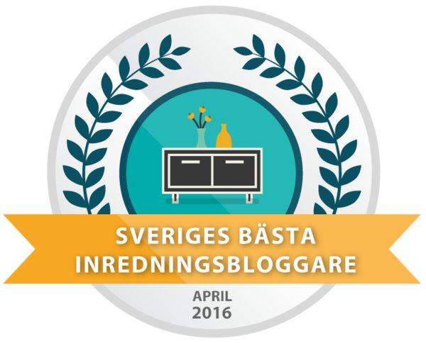 April 2016 - 10 bästa inredningsbloggarna