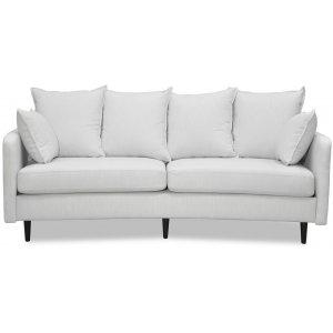 Gotland 3-sits svängd soffa - Off-white linne