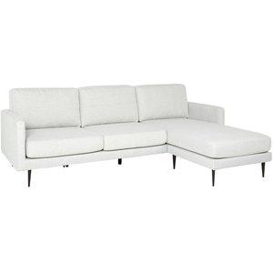 Canberra soffa med vändbar divan - Ljusgrå