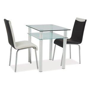 Rachael matbord 80 cm - Glas/vit