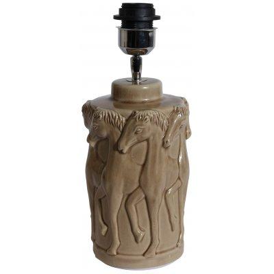 Bordslampa dansande hästar H31 cm - Beige