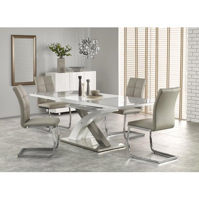 Bonita matbord 160-220 cm - Vit/grå