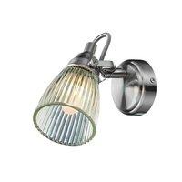 Lada Vägglampa - Stål/Klarglas